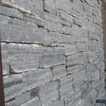 Elite Blue Granite Drystack Ledgerock wall close view