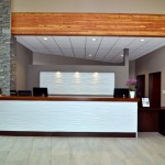 Elite Blue Granite Ledgerock Best Western front desk