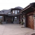 Elite Blue Granite Ledgerock Drystack house front