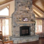 Elite Blue Granite Paula's Dream Blend fireplace