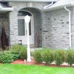 Elite Blue Granite Tumbled Ledgerock house entrance