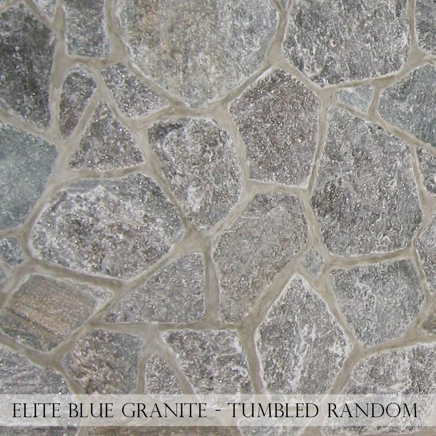 Elite Blue Granite Tumbled Random