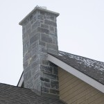 Elite Blue Granite outside chimney