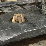 Natural Stone Slab Fire Pit