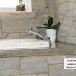 bathtub surrond weatheredge limestone splitface ledgerock