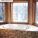 bathtub surround harvest gold limestone