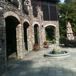 black limestone patio flag square cut