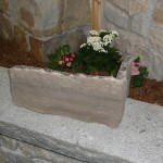 brown limestone extremely large ledgerock corner