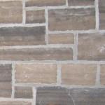 brown limestone ledgerock closeup
