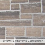 brown limestone ledgerock veneer closeup