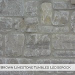 brown limestone tumbled legerock veneer closeup