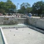 building waterfall at royal botanical gardens