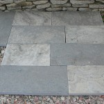 Charcoal Limestone Flamed Square Cut Flagstone