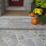 charcoal limestone front entrance walk random flagstone