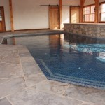charcoal limestone random flag pool floor