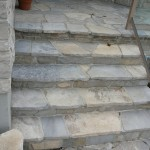 charcoal limestone random flag steps and deck