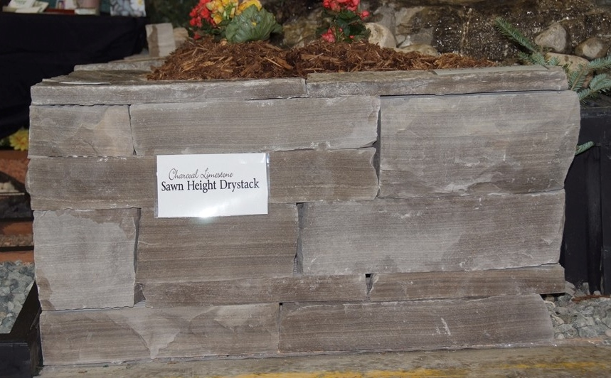Charcoal Limestone Sawn Height Drystack