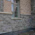 charcoal limestone tigerstripe ledgerock building detail