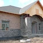 charcoal limestone tigerstripe ledgerock building front