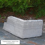 charcoal limestone tigerstripe ledgerock veneer corner