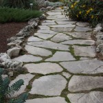 charcoal limestone walkway random flag