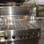 colonial's outdoor living grill and limestone counter tops