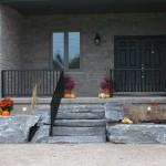 elite blue granite armor stone entrance