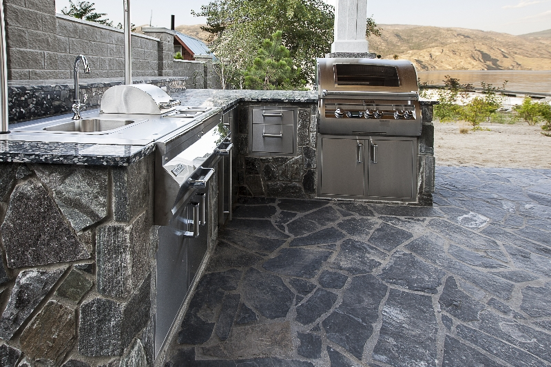 Elite Blue Granite Beach House Outdoor Kitchen