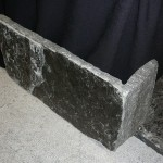 elite blue granite extremely large squared veneer corner