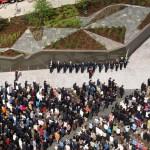 elite blue granite fire fighters memorial air view