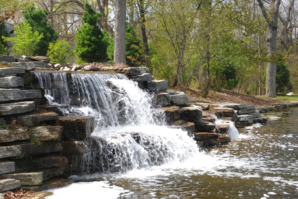 Elite Blue Granite Waterfall at a Golf Course