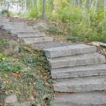 Elite Blue Granite Guillotined Steps