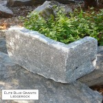 elite blue granite ledgerock veneer corner