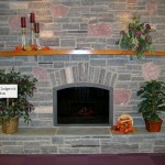 elite blue granite mica fireplace