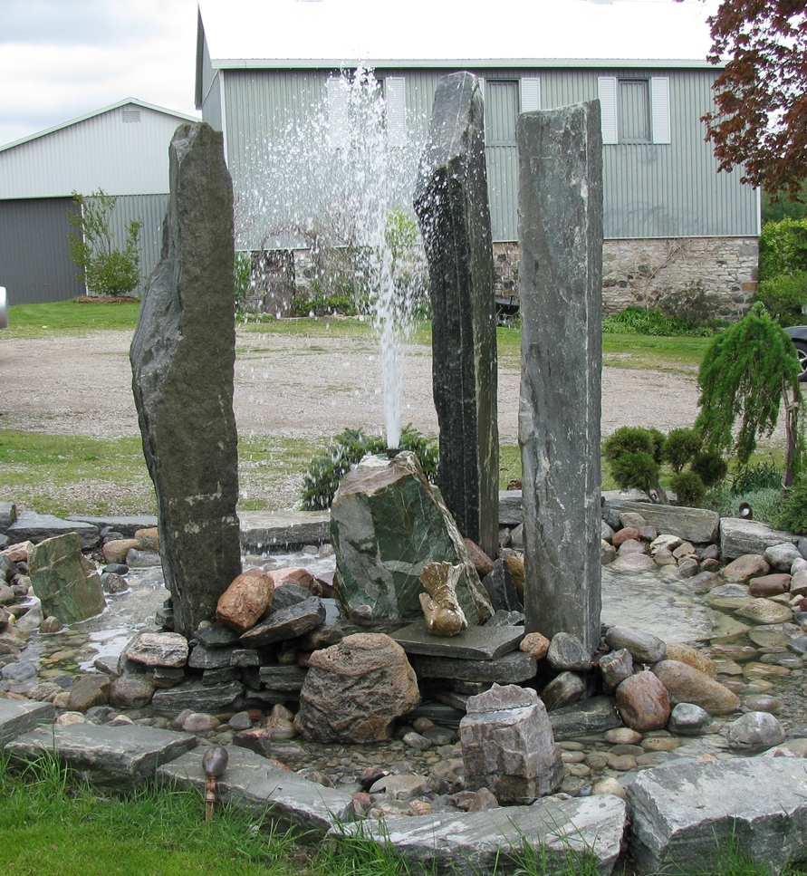 Elite Blue Granite Pillars Water Feature