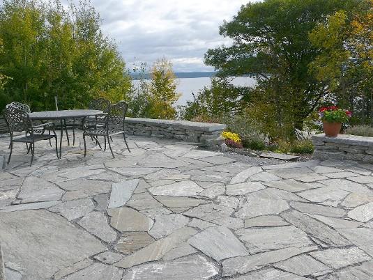 Elite Blue Granite Flagstone – Colonial Brick & Stone Inc.