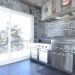 elite blue granite sawn height bbq area