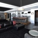 elite blue granite sawn height fireplace
