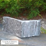 elite blue granite sawn height veneer corner