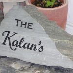 Elite Blue Granite Small Engraved Sign