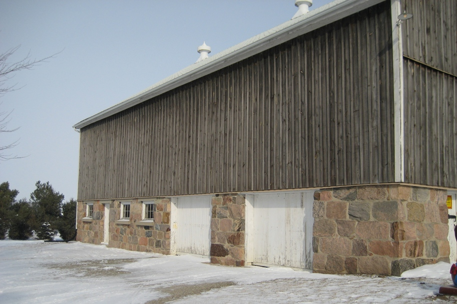 Barn Wall Fieldstone Foundation