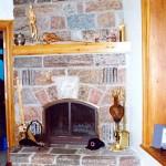 fireplace corner feildstone