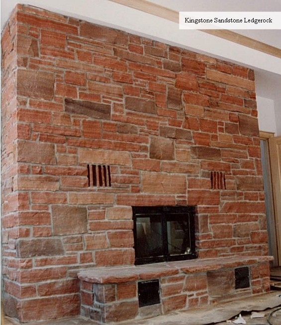 fireplace kingstone sandstone