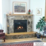 fireplace rancom charcoal limestone