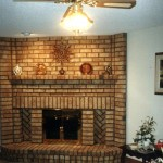 fireplace red brick