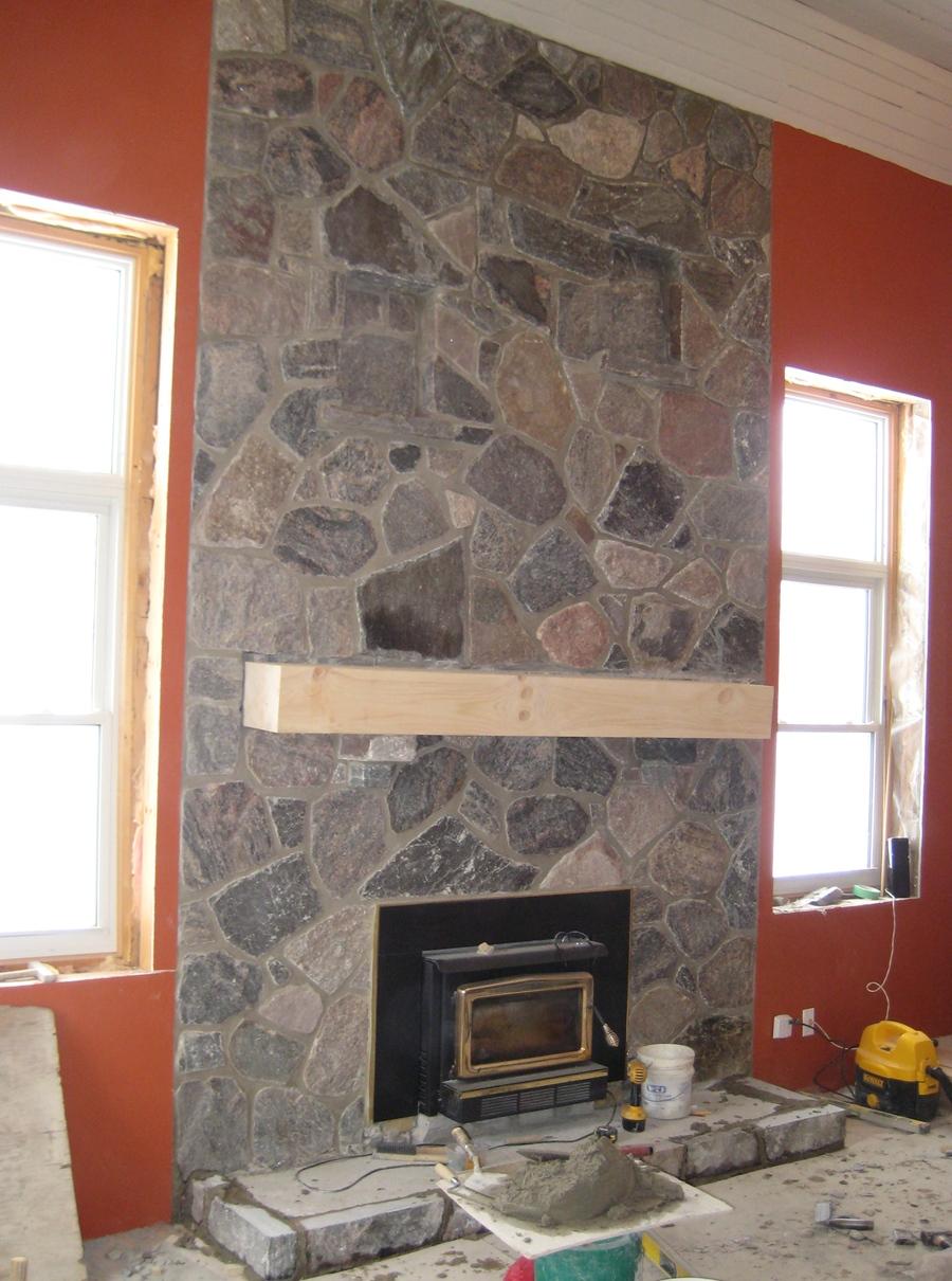 granite random blend fireplace indoor ... & EWM Indoor Fireplaces \u2013 Colonial Brick \u0026 Stone Inc.