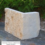harvest gold limestone sawn height veneer corner