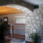 harvest gold limestone tumbled blend arch