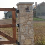 harvest gold limestone tumbled blend gate post