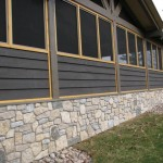 harvest gold limestone tumbled blend with granite foundation